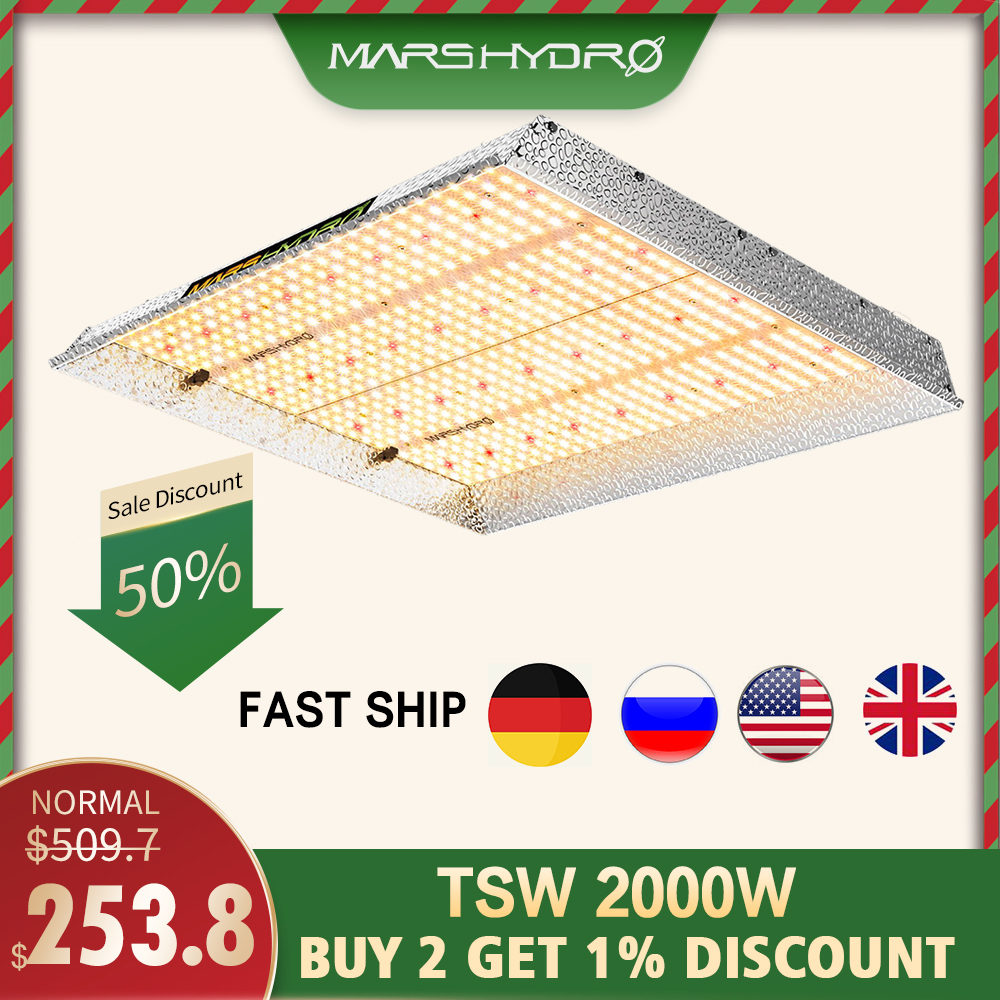 Mars Hydro TSW 2000W Led Grow Light Full Spectrum Indoor Plants Hydroponic System Led Growing Lights For Grow Lights Panel