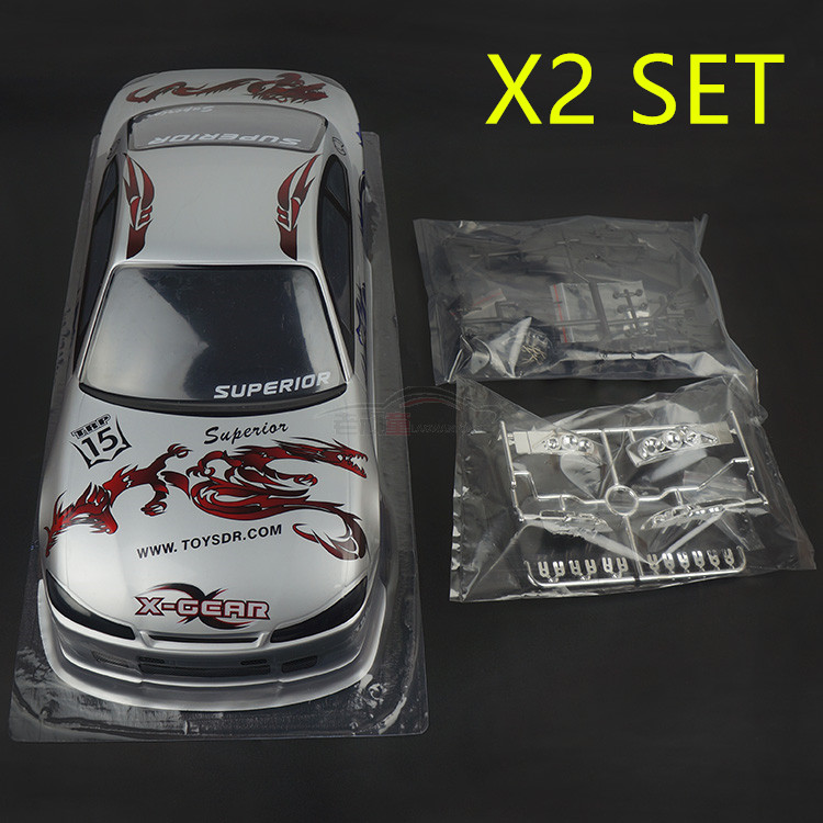 2set Silvia 7 S009 S15 1 10 1 10 PVC painted body shell for 1 10