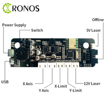 GRBL 1.1 USB Port CNC Engraving Machine Control Board 2-Axis Integrated Driver, For Desk Laser Engraving Machine