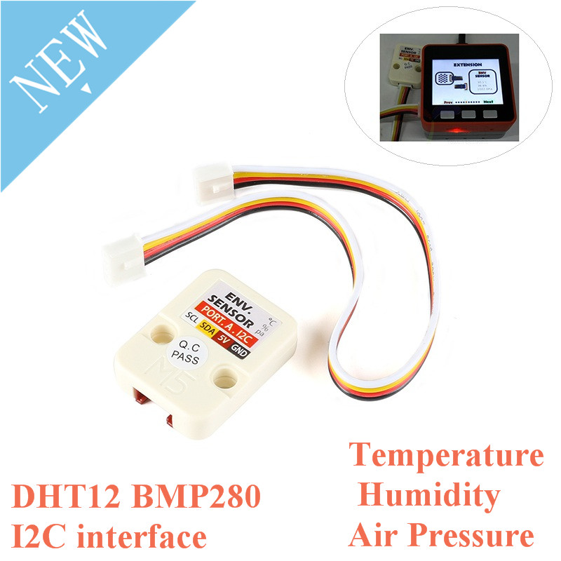 M5Stack Mini Temperature Humidity Air Atmospheric Pressure Sensor DHT12 BMP280 Digital For Arduino I2C Grove Connector M5Core