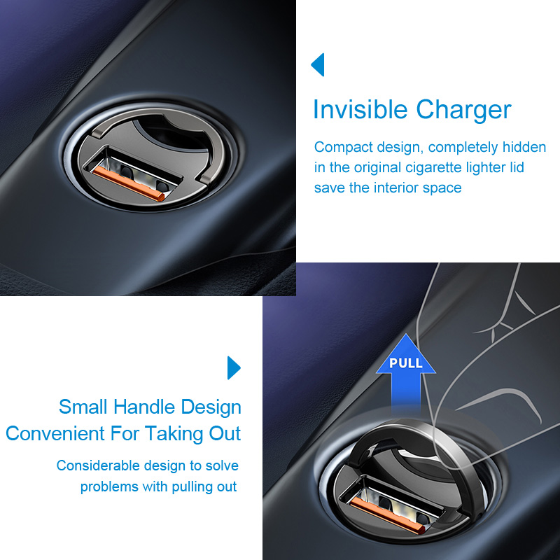 Baseus Quick Charge 4.0 3.0 USB C Car Charger For Huawei P30 Xiaomi Mi9 Mobile Phone QC4.0 QC3.0 Type C PD 3.0 Fast Car Charging 1