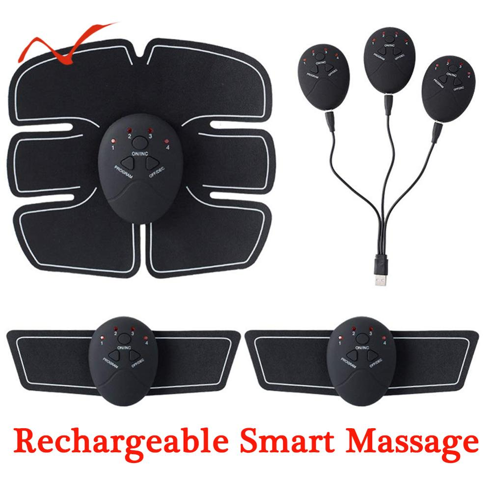 Rechargeable EMS Wireless Muscle Stimulator Exerciser Device Weight Loss Slimming Training Body Massager Gym Equipment