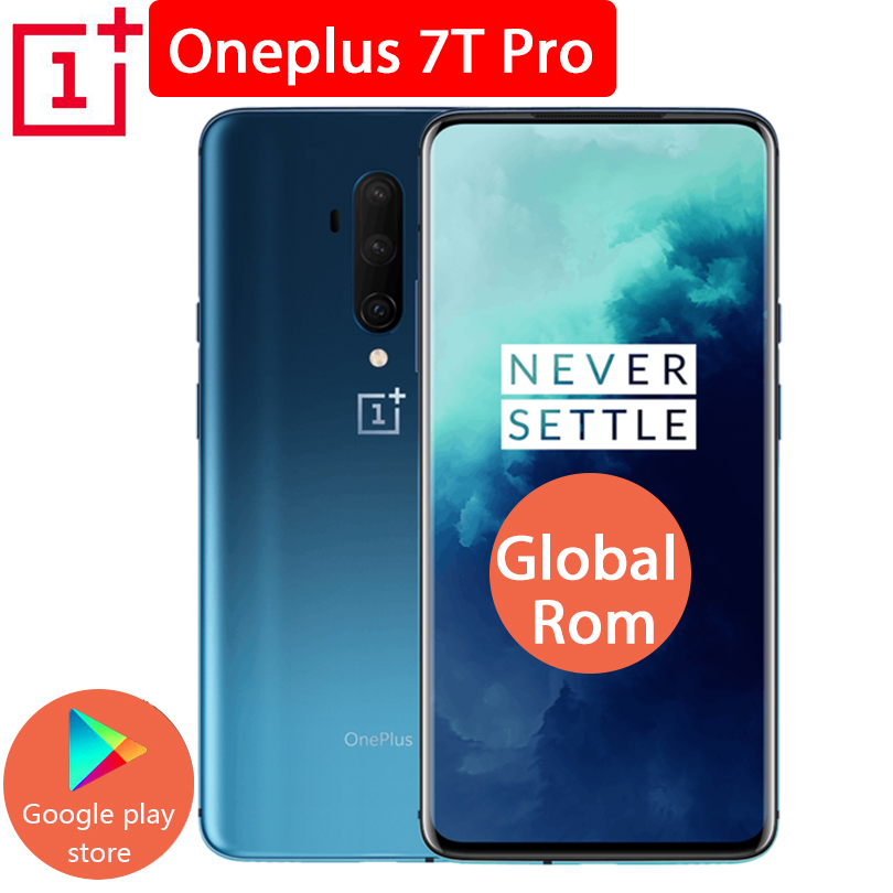 Global ROM Original OnePlus 7T Pro Mobile Phone 8GB 256GB Snapdragon 855 Plus 6.67'' Fluid AMOLED 90Hz 48MP Camera 4080mAh Phone