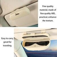Óculos clipe caso organizador caixa de óculos de sol titular bolsos de armazenamento para renault duster carro óculos caso 2019 nova chegada