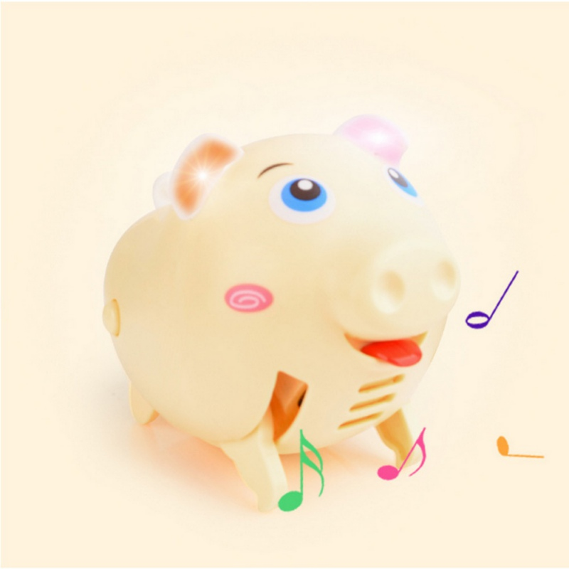 Kids Toys Cute Electric Music Walking Pig LED Light Glow Electronic Pets Children\\\'s Educational Interactive Toys