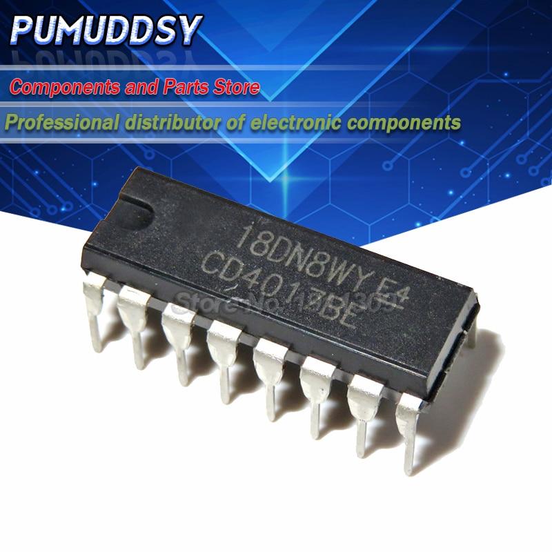 10pcs,CD4017 CD4017B CD4017BE 4017 DECADE COUNTER DIVIDER IC