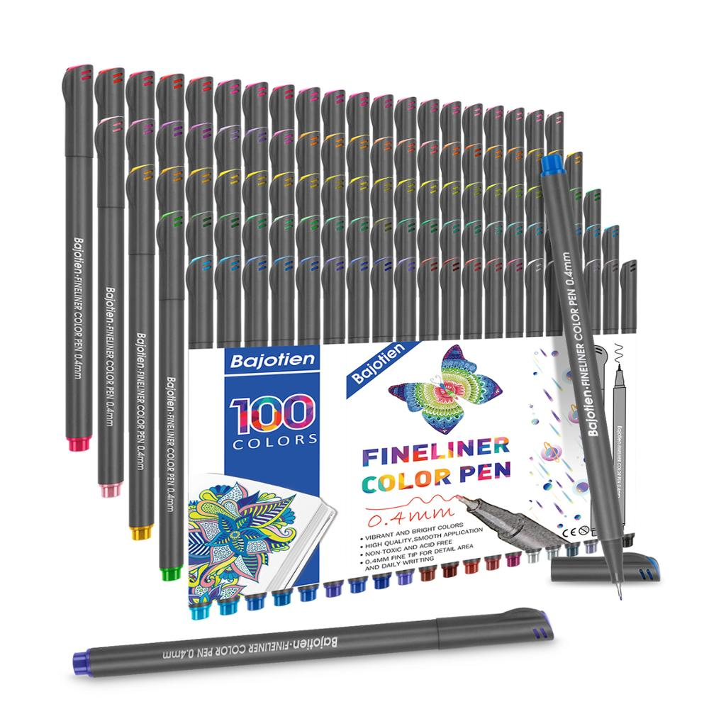 Fineliner Art Markers Pens Dual Tips Drawing Painting Watercolor Marker 24 36 48 <font><b>60</b></font> <font><b>100</b></font> Colors for Calligraphy Drawing Sketching image