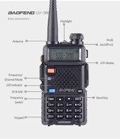 128ch 5w vhf uhf Baofeng UV-5R טוקי ווקי שני הדרך גירסת השדרוג CB רדיו Baofeng uv5r 128CH 5W VHF UHF 136-174Mhz & 400-520Mhz (5)