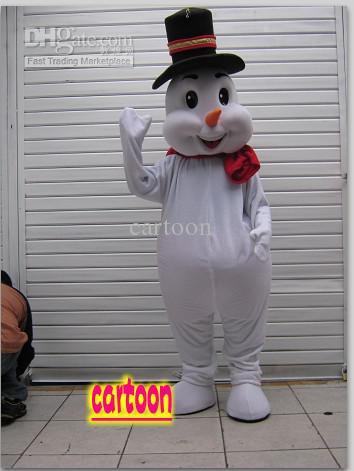 Klassieke Versie kerstmuts Sneeuwpop Mascotte Kostuum Volwassen Halloween verjaardagsfeestje cartoon Kleding Cosplay Kostuums