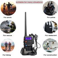128ch 5w vhf uhf מכשיר קשר Baofeng UV5R הנייד הרדיו 5W 128CH UV5R UHF & VHF משדר Interphone שתי דרך רדיו RUA0850A RU משלוח (5)