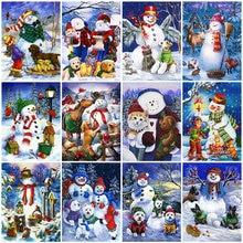 Pdmdog 5d diy Алмазная картина Снеговик полный квадратный Круглый