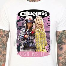 Clueless Movie T-shirt. Mens & s Sizes S-3XL. As If Cher Dionne 90's Retro T Shirt Casual Men Clothing
