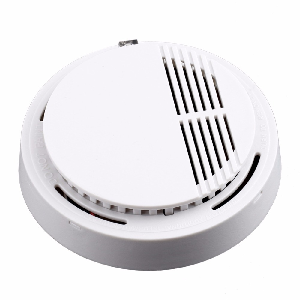Fire Smoke Sensor Detector Alarm Tester Home Security System Wireless Cordless Family Guard Home Independent Alarm
