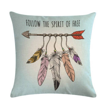 Boho Arrow Feathers Cushion Covers