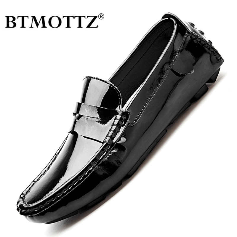 Split Genuine Leather Mens Loafers Luxury Brand 2020 Fashion Handmade Moccasins Men Casual Shoes Black Slip On Men's Boat Shoe