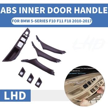 4/7PCS Left Hand Drive LHD For BMW 5 series F10 F11 F18 520 525 530 Mocha Car Interior Door Handle Inner Panel Pull Trim Cover