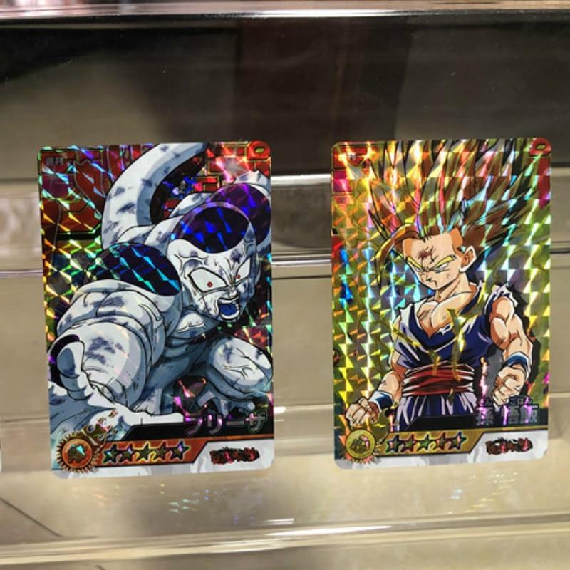 54pcs/set Mixed Dragon Ball Super Saiyan Goku Jiren Poker Game Action Toy Figures Commemorative Edition Collection Cards