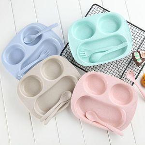 Экологичная пшеничная соломенная детская посуда набор Детская миска детская тарелка