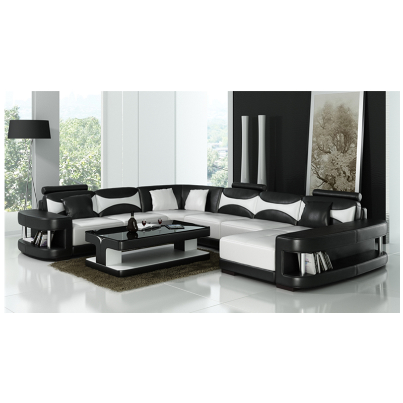 US $1498.0 |Contemporary design leather sofa 0413 F3001-in Living Room  Sofas from Furniture on AliExpress
