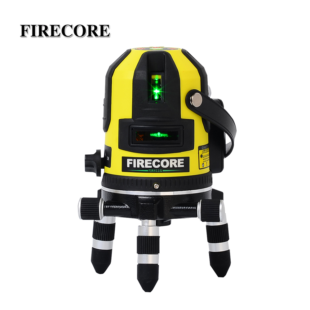 Firecore Professional lignes et Plumb Laser fir411g avec récepteur valise