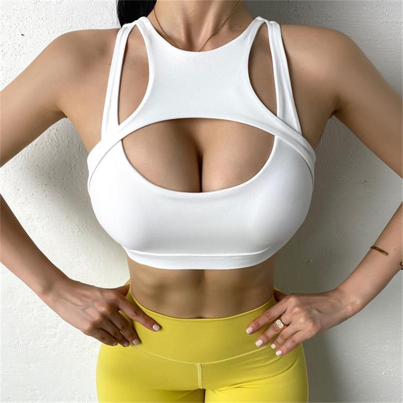 Sexy Crop Top Sports Bras Women High Stretch Fitness Vest Female Yoga Tops Gym underwear Push-up Workout Running Wear Sport9s