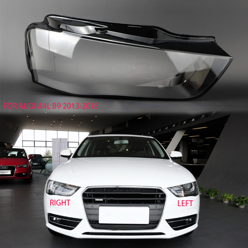 for <font><b>audi</b></font> a4l b8 2013-2015 lens <font><b>Headlight</b></font> transparent housing shell cover Lens glass housing Car <font><b>headlight</b></font> transparent glass lens image