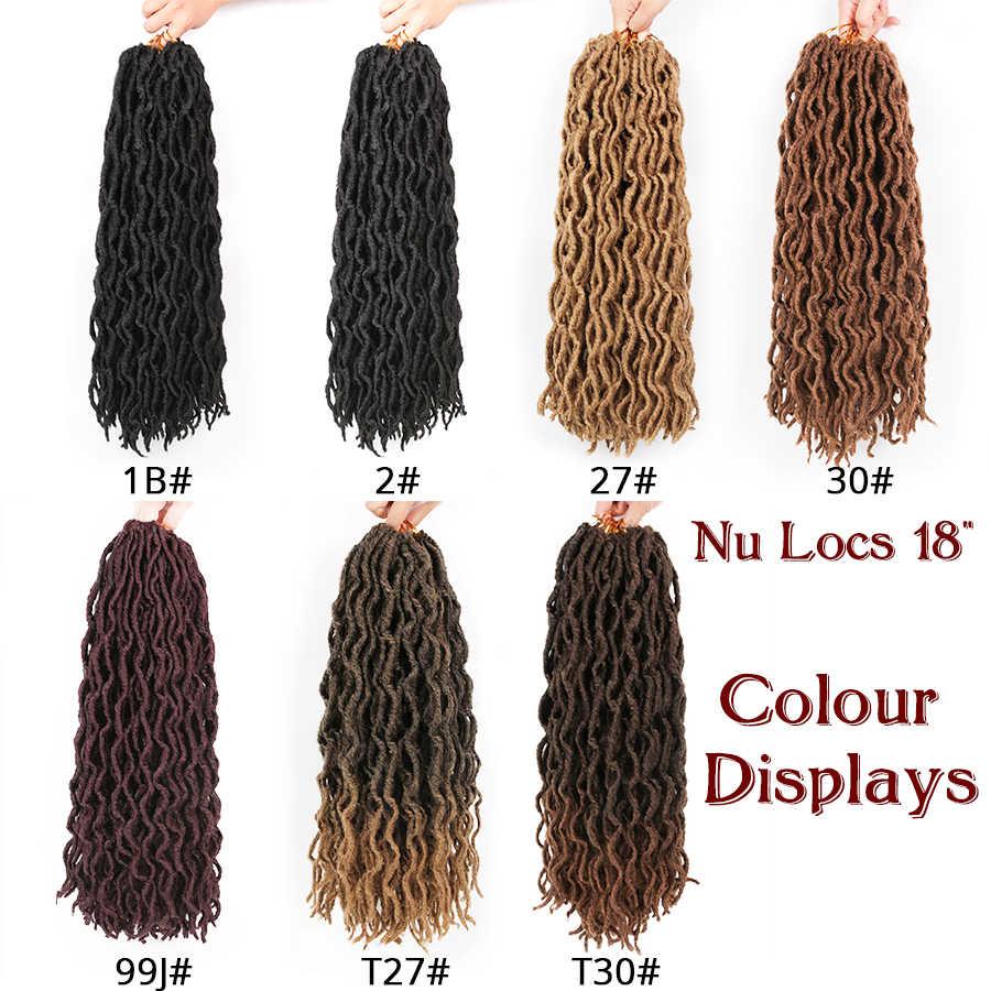 Leeons Kanekalon Dreadlocks rozszerzenia naturalne miękkie Nu Locs włosy wysokiej jakości syntetyczne Omber szydełka Locs bogini Faux Locs