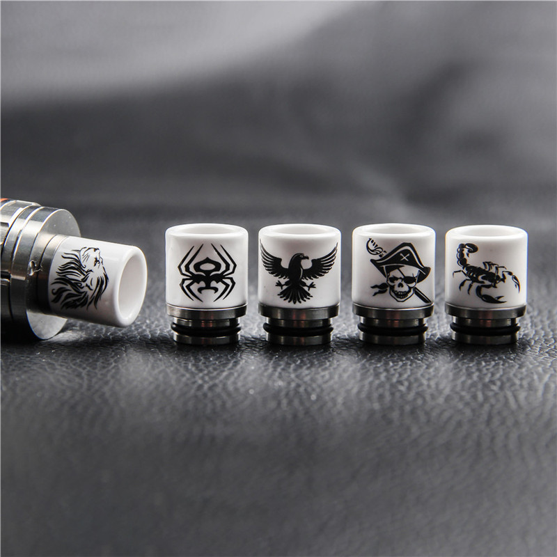 E Cigarette 810 Drip Tip Metal Ceramic Anti-Heating From Mouthpiece For Vape Zeus RTA RDA Atomizer