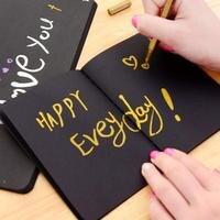 Schwarz Rechteck Kreative Doodle Skizze Tagebuch Für Zeichnung Buch Geschenk Planer Büro Zubehör Schule 4 Liefert Muster T1W5|Notizbücher|   -
