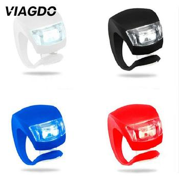 1pcs Bike Light Silicone LED Waterproof Cycling Light With Battery Head Rear Bicycle Front Light Whee Bike Accessories