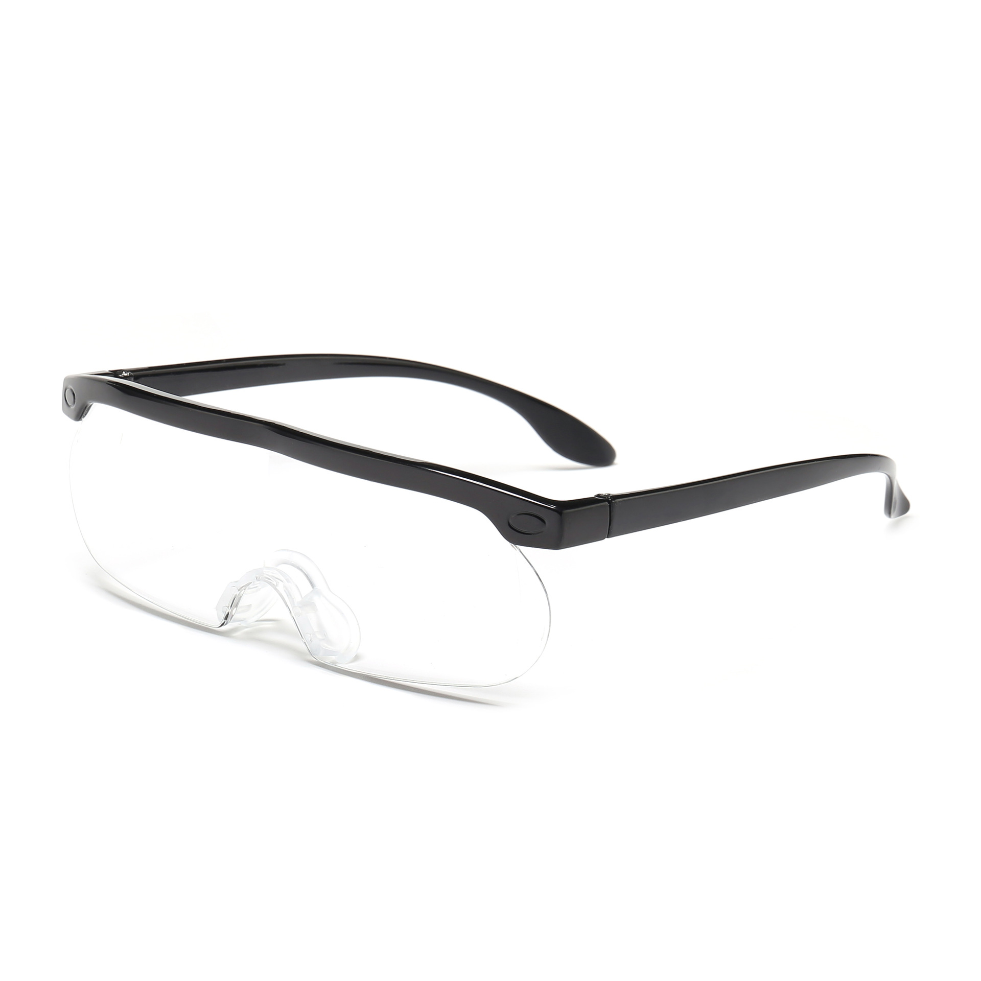 America Hot Selling Big Vision Glasses 250-Degree 1.6 Times Magnifying Glass Sheet High Soft Nose Pads Scratch-Resistant