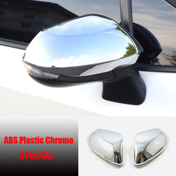 ABS Chrome/Carbon fibre For Toyota Yaris 2020 2021 accessories Side Door RearView Mirror decoration Cover Trim Garnish 2pcs