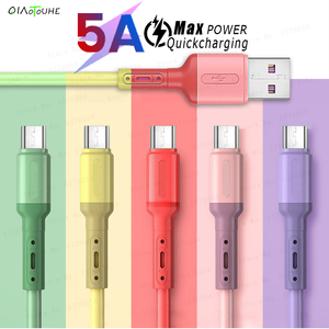 Micro USB Cable 1m/2m 5A Fast Charging Data Cable For XiaoMi redmi 4X Samsung s7 Huawei Android Liquid Silicone Microusb Charger