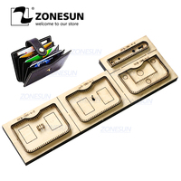 ZONESUN Credit Card Holder Coin Purse Customized Leather Cutting Die Handicraft Tool Punch Cutter Mold Diy Paper Wallet Cut Die