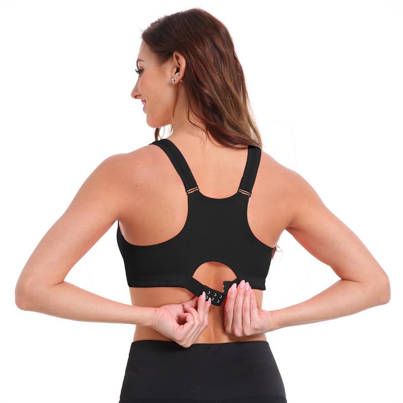 Women's Zipper Push Up Sports Bra 9