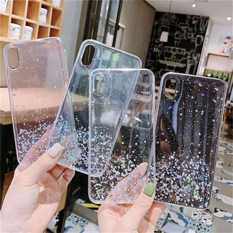 럭셔리 반짝이 스타 케이스 OPPO R17 프로 R15 R11 R11s R9s 플러스 케이스 K1 K3 K5 리노 2 2Z 에이스 Realme 5 소프트 실리콘 커버 케이스