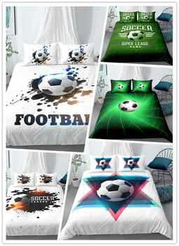 3D Digital Printing 100% Microfiber Football Bedding Set Soccer Ball Football Lover Duvet Cover Sets