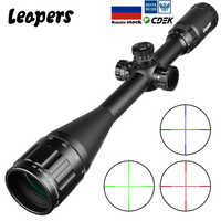LEAPERS 6-24X50 Riflescope Tactical Optical Rifle Scope Red Green Blue Dot Sight Illuminated Retical Sight For Hunting Ak 47