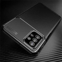32 caso de fibra de carbono de la contraportada para Samsung Galaxy A02 A02S A12 A22 A32 A52 A72 A82 A42 suave de silicona A prueba de golpes A prueba de Coque