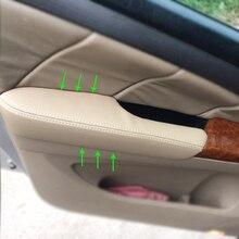 Cubiertas de molduras de Panel de reposabrazos de puerta Interior de microfibra de cuero para Honda Odyssey 2004 2005 2006 2007 2008