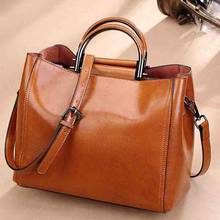 New Design Genuine Leather Women Handbag Casual Fashion Single Shoulder Bag Ladies High Quality Cow Boston Crossbody Bag(China)