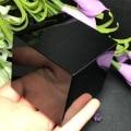 Natural preto obsidian quartzo cristal cubo pedra polido espécime minerais cura pedra decoração para casa