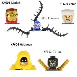 Süper kahraman işareti 9 Mark9 Hourman Batgirl kablo Batman Venom Talon blok Mini aksiyon figürü oyuncak MiniFigure