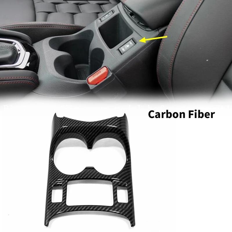 Carbon Fiber Console Central Front Water Cup Holder Trim Car Interior Trim for Nissan Qashqai J11 2014 - 2018 2019
