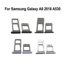 Phone-Sim-Tray Housing Samsung Adapter-Holder Micro-Sd-Card for A8 A530 Galaxy New Original