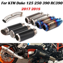 Motorcycle Exhaust Muffler Pipe + Mid Link Tube for sc With DB Killer for KTM Duke 125 250 390 RC390 2017 2018(China)