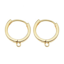6PCS Classics18K Gold Color Brass Round Earrings Hoop Earring Clip High Quality DIY Jewelry Making Findings