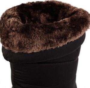 Image 4 - Damskie buty zimowe do połowy łydki wodoodporne buty śnieżne futrzane kliny buty damskie ciepłe buty puchowe platforma Botas Mujer Invierno 2020