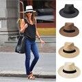 Соломенная шляпа унисекс с широкими полями, Повседневная пляжная шляпа с большими полями, летняя пляжная шляпа ручной работы для мужчин и ж...