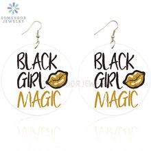 Somesoor двусторонняя печать черная девочка Волшебные натуральные